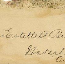 Image of .1 Envelope to Miss Estelle A Bricker, Waterloo