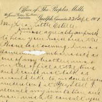 "Image of .2 Letter, ""Sept.22, 1901,"" p.1"