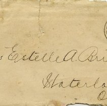 Image of .1 Envelope to Miss Estelle Bricker