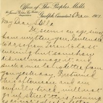 Image of Letter to Stella from Lincoln Goldie, November 26, 1901