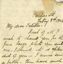Image of Letter, Feburary 8, 1902, p.1