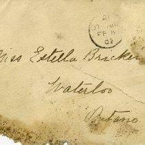 Image of .1 Envelope - To Miss Estella Bricker, Waterloo, Ont.