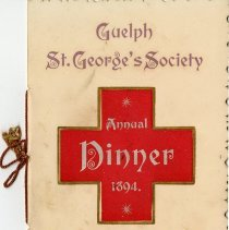 Image of St. George's Society Annual Dinner Program, 1894