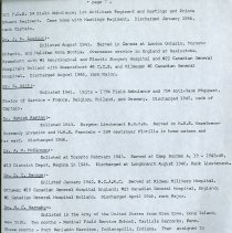 Image of Guelph Doctors who served in WWII (Cont.), page 13