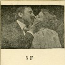 "Image of ""Flip Page"" View of First Kiss in Movies, 1896"