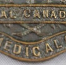 Image of Royal Canadian Army Medical Corps Shoulder Title - Detail