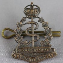 Image of Royal Canadian Army Medical Corps Shoulder Title - Front