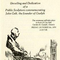 Image of John Galt Unveiling Programme, 1979