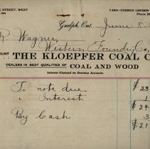 Image of Invoice, Kloepfer Coal Co., 1914