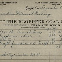 Image of Invoice from The Kloepfer Coal Company, 1923