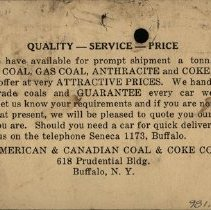 Image of Advertisement from American & Canadian Coal & Coke Co.