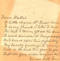 Image of Letter from Roberta Harvey
