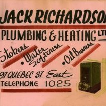 Image of Advertising Poster, Jack Richardson Plumbing & Heating Ltd.