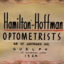 Image of Poster, Hamilton-Hoffman Optometrists