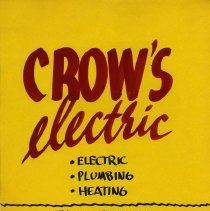 Image of Advertising Poster, Crow's Electric