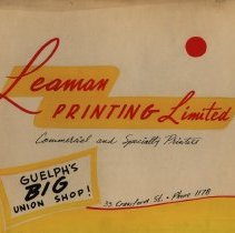 Image of Advertising Poster, Leaman Printing