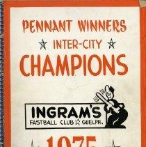 Image of Ingram's Fastball Club Scrapbook