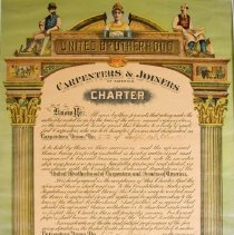 Image of Charter of Union of Carpenters & Joiners