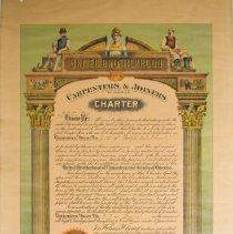Image of Guelph Charter for Union of Carpenters & Joiners