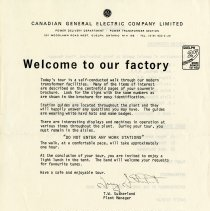 Image of Announcement, Canadian General Electric, c.1979