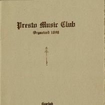 Image of Presto Music Club Program for 1914-1915, p.1