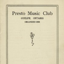 Image of Annual Program, Presto Music Club, 1915-1916
