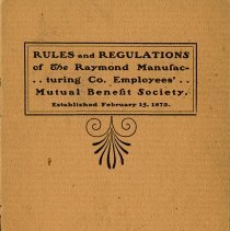 Image of Employee Rules and Regulations, Raymond Manufacturing Co.