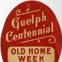 Image of Guelph Centennial Old Home Week Sticker, 1927