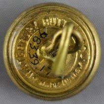 Image of Canadian Military Button - Back