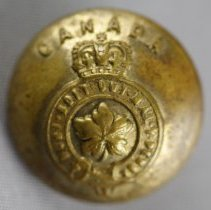 Image of Canadian Military Button - Front