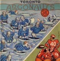 Image of Program, Toronto Argonauts vs. Ottawa Rough Riders, Nov.3, 1934