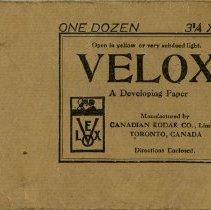 Image of Envelope for Kodak Velox Developing Paper, 1916
