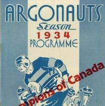Image of Argonauts Season 1934 Programme