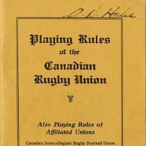 """Image of """"Playing Rules of the Canadian Rugby Union,"""" 1932"""
