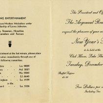 Image of Centre of Invitation, Dec. 31, 1935