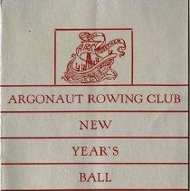 Image of Invitation to Argonauth Rowing Club New Year's Ball, 1935-36