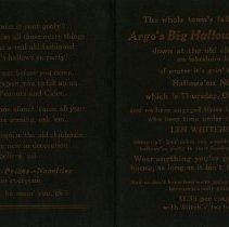 Image of Argo's Big Hallowe'en Party Invitation, pp.2-3
