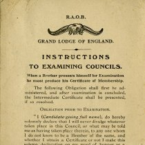 Image of Grand Lodge of England, Instructions to Examining Councils