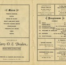 Image of Menu and Programme, pp.2-3