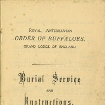 Image of Burial Service and Instructions, R.O.A.B. Grand Lodge of England