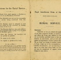 Image of Instructions for The Burial Service; Burial Service, pp.2-3