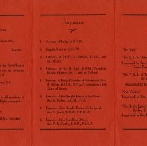 Image of Programme and Toast List