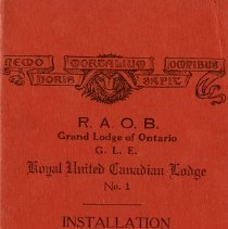 Image of R.A.O.B. Grand Lodge of Ontario Invitation, 1937