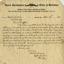 Image of Letter to A. Wilford from R.A.O.B., G.L.O., 1938