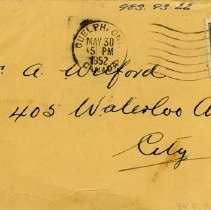 Image of Addressed to A. Wilford, May 30, 1952