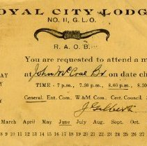 Image of Royal City Lodge Notification of Upcoming Meeting