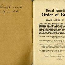 Image of Royal Antediluvian Order of Buffaloes Rule Book, p.1
