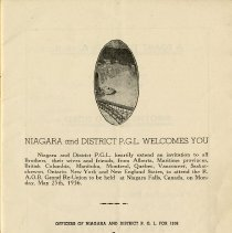Image of Officers of Niagara & District, P.G.L. for 1936, p.1