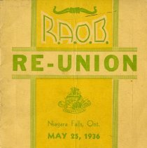 Image of R.A.O.B. Niagara and District Programme for 3rd Reunion, 1936