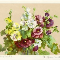 "Image of .2 ""Hollyhocks"" by Effie Smith"